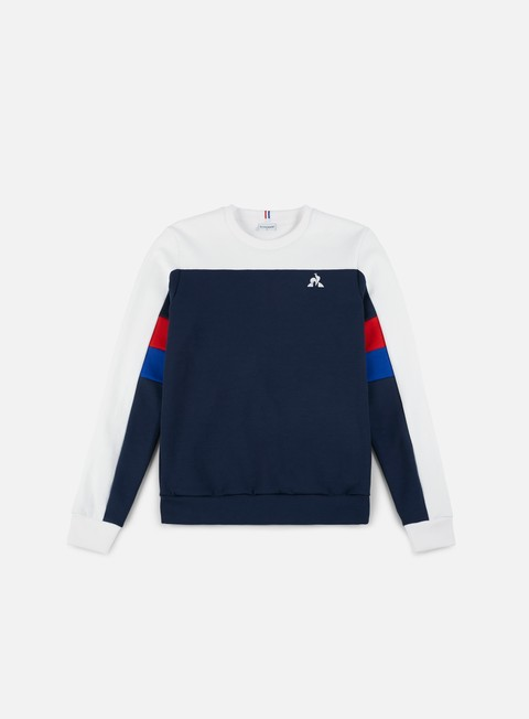felpe le coq sportif inspi football n 1 crewneck dress blues