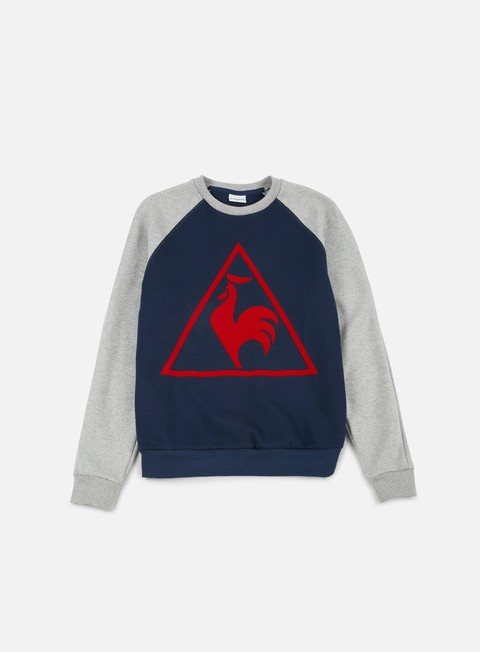 felpe le coq sportif tri lf tennis crewneck dress blues