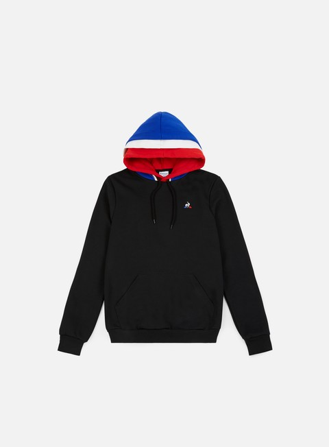 felpe le coq sportif tricolore bbr n 1 hoodie black pure rouge marshmallow