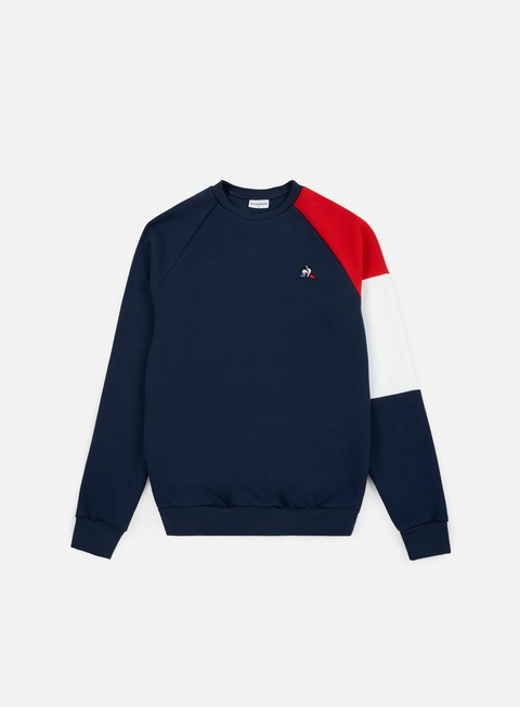 felpe le coq sportif tricolore bbr n 2 crewneck dress blues