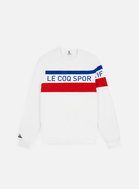 Outlet e Saldi Felpe Logo Le Coq Sportif Tricolore N5 Crewneck