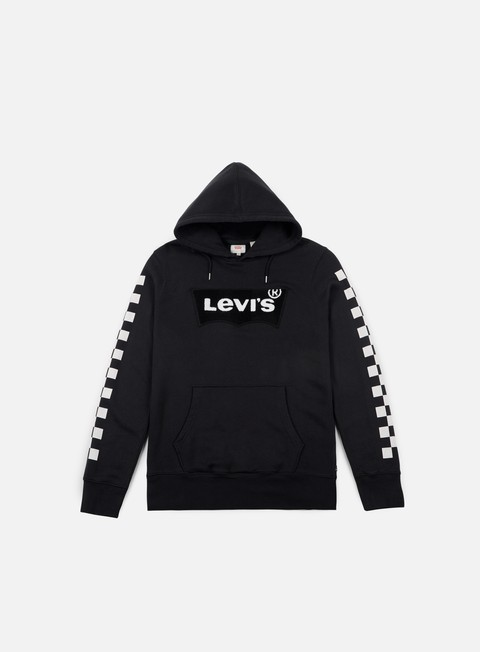 felpe levi s chenille check graphic hoodie black