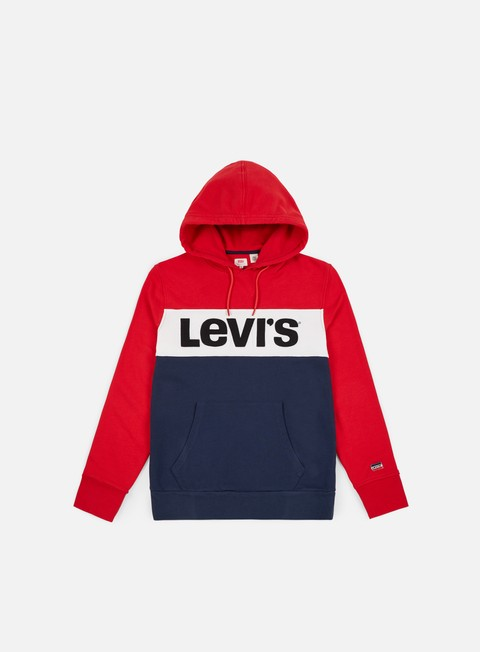 felpe levi s colorblock hoodie chinese red marshmallow dress blue
