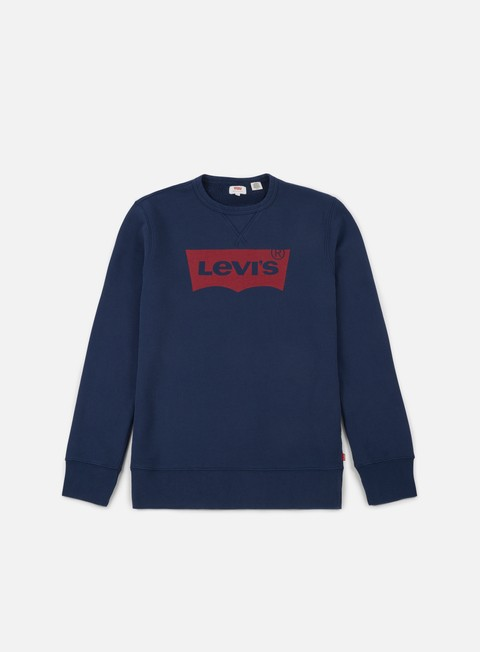 felpe levi s graphic b hm crewneck dress blues