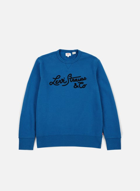 felpe levi s graphic bi woodmark stitch crewneck dark blue