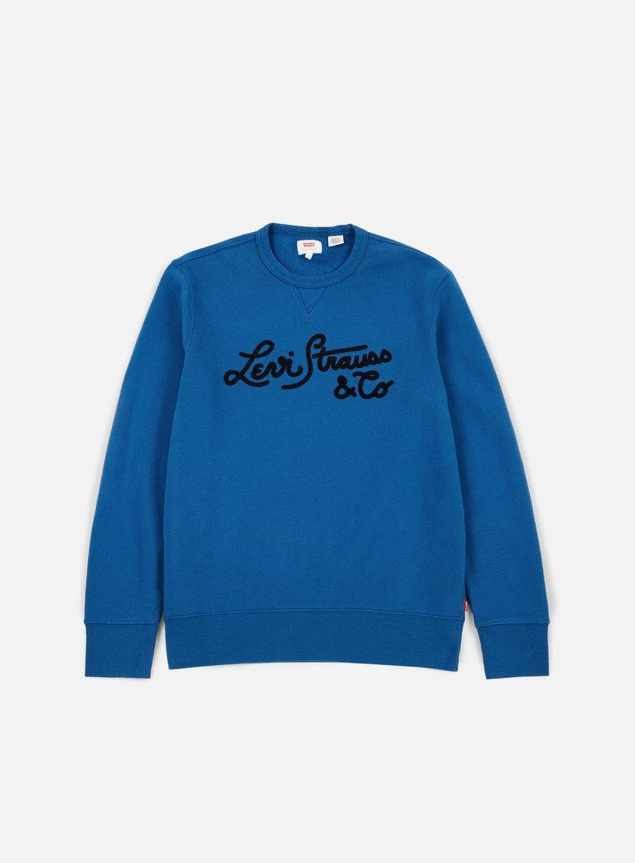 Levi's - Graphic Bi Woodmark Stitch Crewneck, Dark Blue