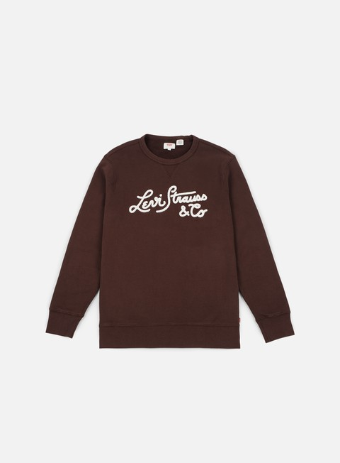 Outlet e Saldi Felpe Girocollo Levi's Graphic Bi Woodmark Stitch Crewneck