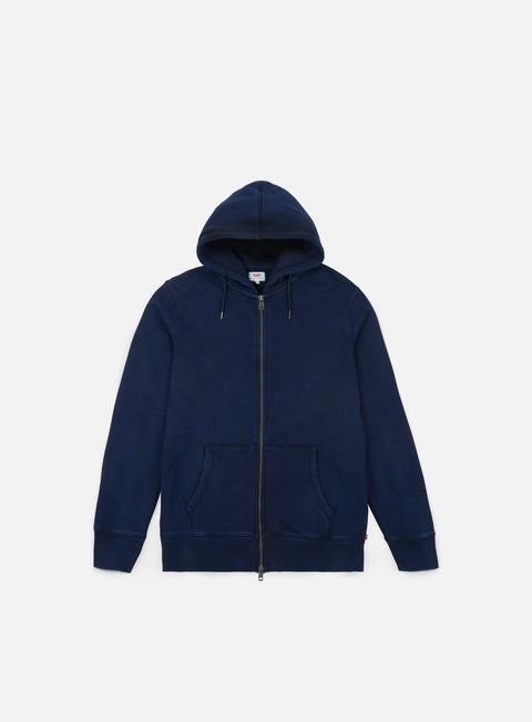 felpe levi s original zip up hoodie 2 dark indigo