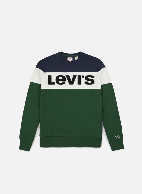 felpe levi s sportswear colorblock crewneck dress blues marshmallow eden