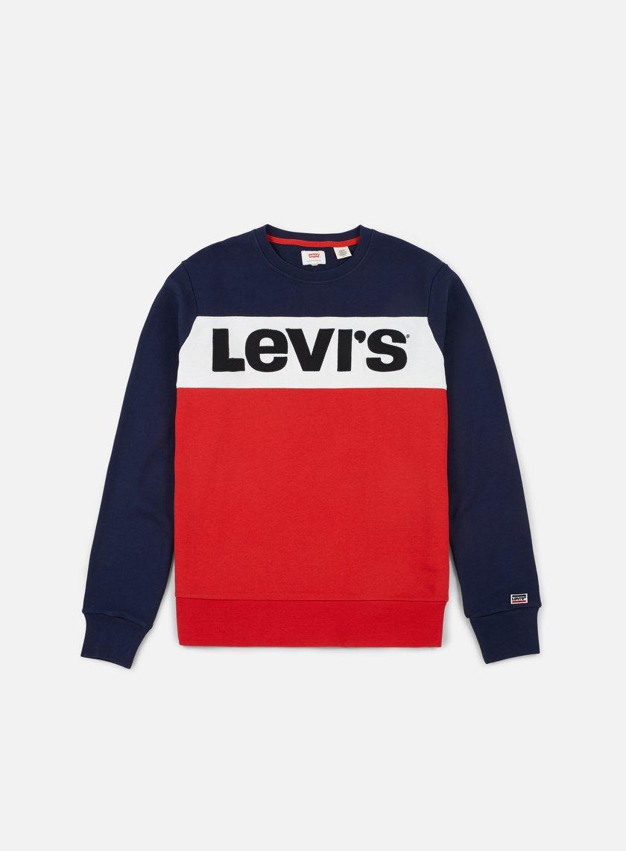 Levi's Uomo Felpa Color Block