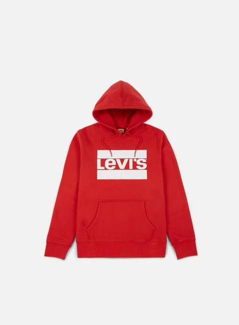 felpe levi s sportswear graphic pullover hoodie red