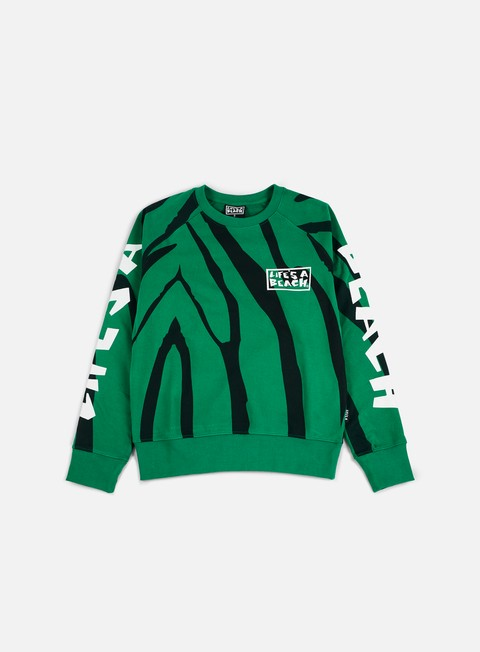 felpe life s a beach jungle crewneck green black