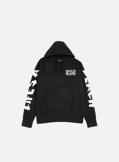felpe life s a beach logo hoodie black