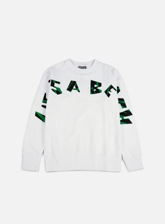 Life's a Beach - Strip Logo Jungle Crewneck, White 1