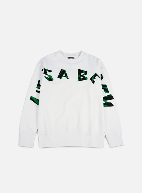 felpe life s a beach strip logo jungle crewneck white