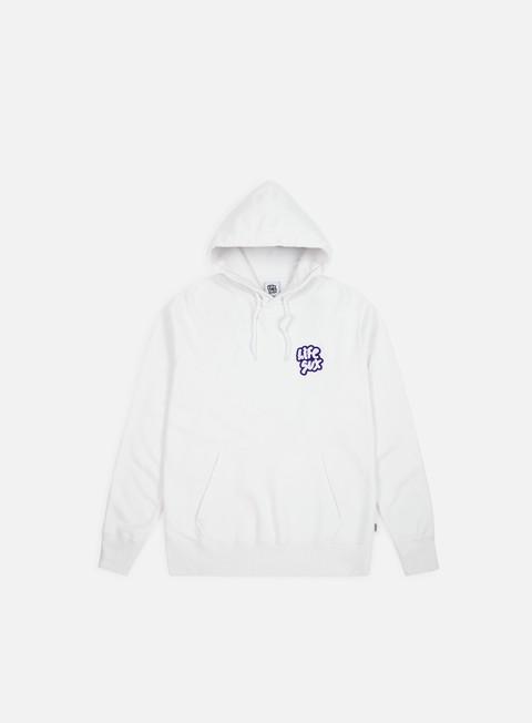 felpe life sux applique logo hoodie white
