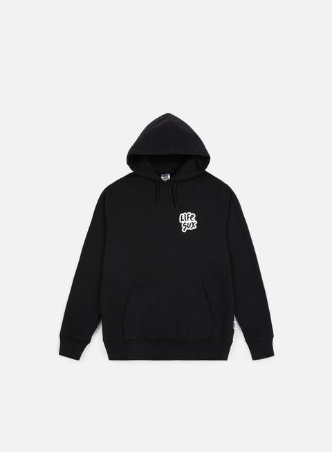 felpe life sux basic hoodie black