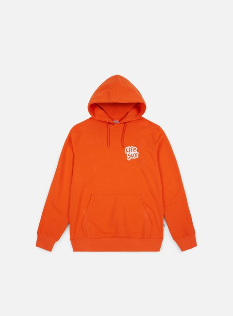 felpe life sux basic hoodie orange