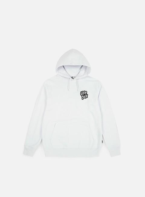 felpe life sux basic hoodie white