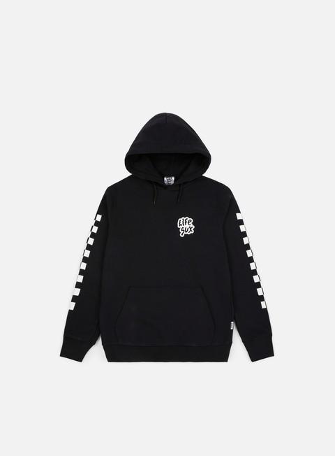 felpe life sux check hoodie black