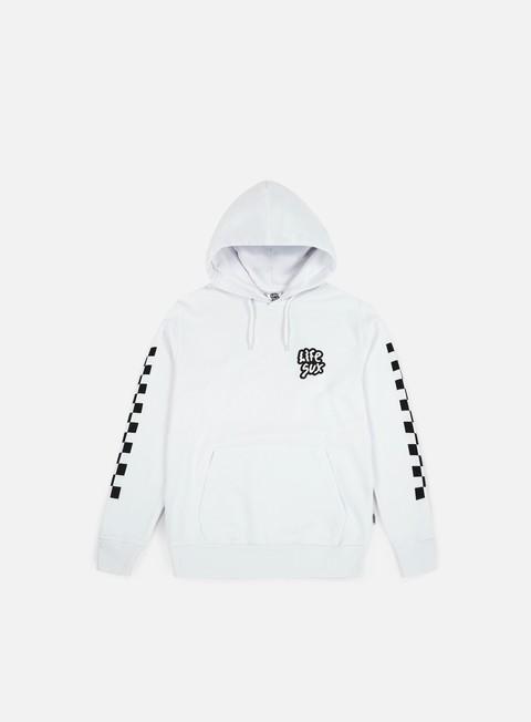felpe life sux check hoodie white