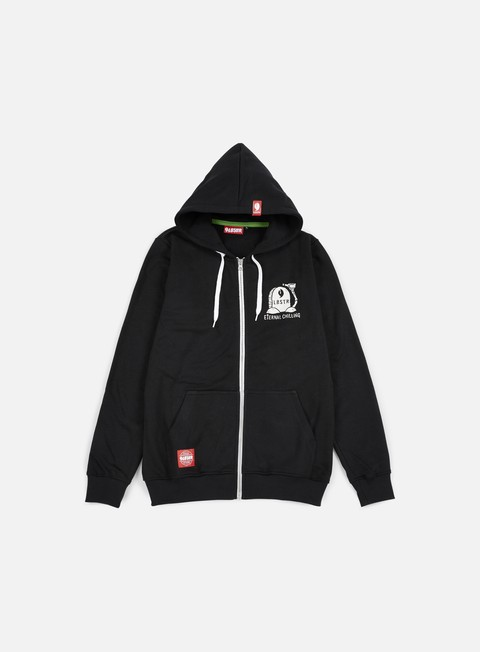 felpe lobster chilling zip hoodie black