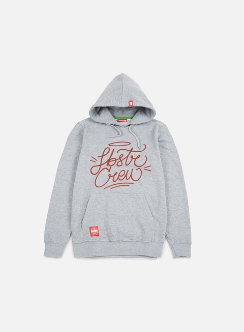 felpe lobster corsivo hoodie athletic grey