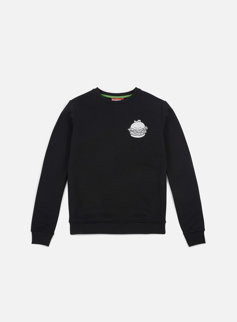 felpe lobster hamburger crewneck black