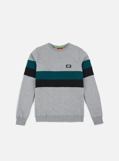felpe lobster mubber crewneck athletic grey black dark green