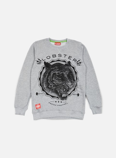 felpe lobster roar crewneck athletic grey