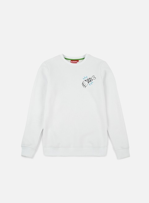 felpe lobster tiger crewneck white