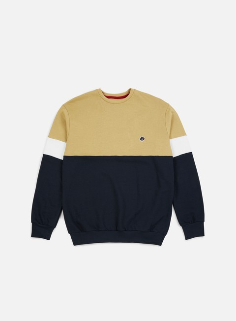 felpe magenta brode crewneck duo beige navy heather grey