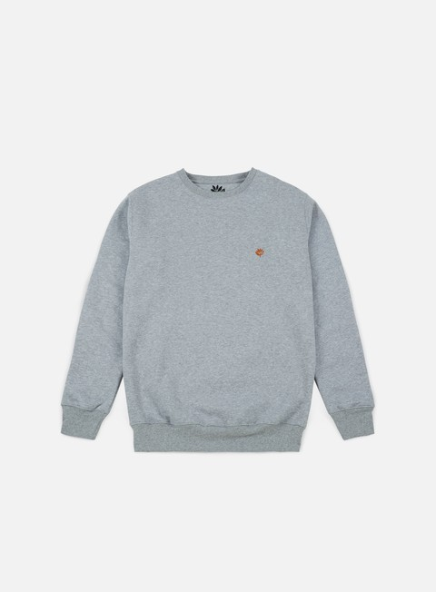 felpe magenta brode crewneck heather grey