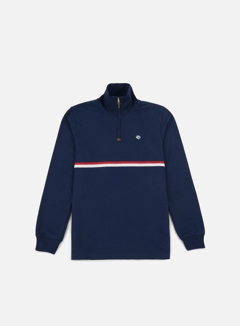 felpe magenta club neck zip navy
