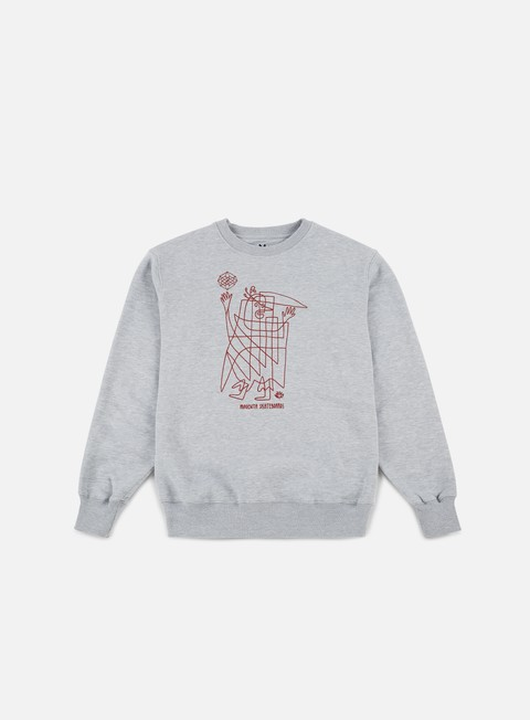 felpe magenta high man crewneck heather grey