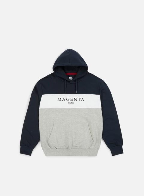 felpe magenta paris hoodie navy grey