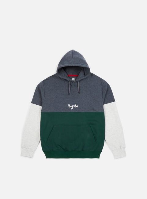 felpe magenta script hoodie green grey