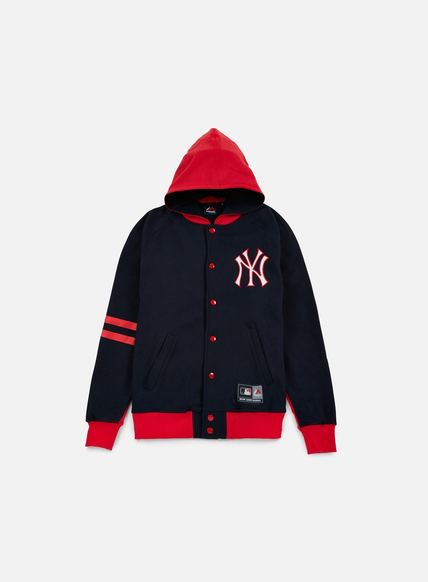 Majestic - Artic Hooded Fleece Letterman NY Yankees, Navy