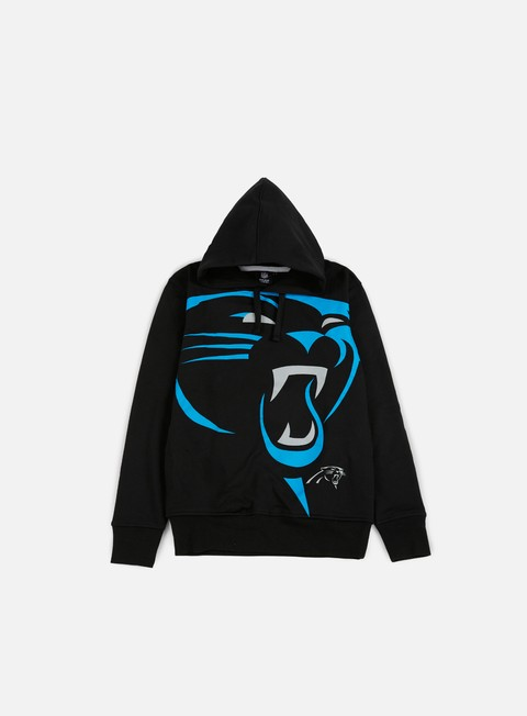 felpe majestic bater loopback oth hoody carolina panthers black