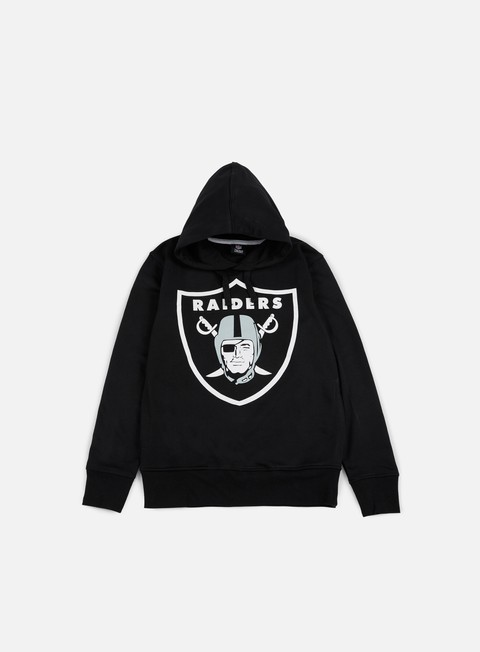 felpe majestic bater loopback oth hoody oakland raiders black