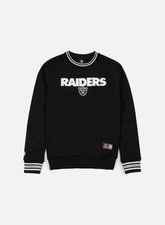 Majestic - Birchen Cross Over Crewneck Oakland Raiders, Black 1