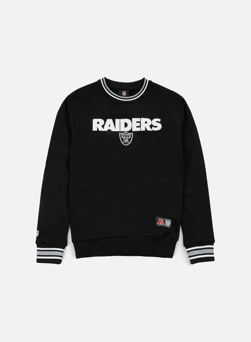 Majestic - Birchen Cross Over Crewneck Oakland Raiders, Black