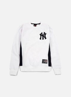 Majestic - Bulba Chenille Chest Logo Crewneck NY Yankees, White 1