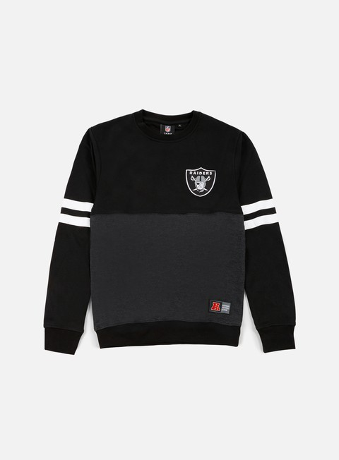 felpe majestic chemin crewneck oakland raiders dark grey black