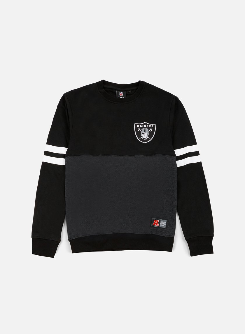 Majestic - Chemin Crewneck Oakland Raiders, Dark Grey/Black