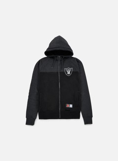 Majestic - Croco Cut & Sew Full Zip Hoody Oakland Raiders, Black 1