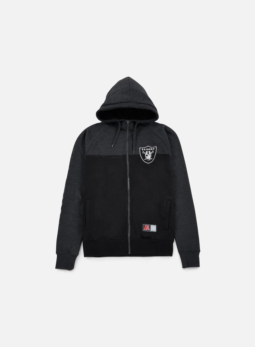 Majestic - Croco Cut & Sew Full Zip Hoody Oakland Raiders, Black