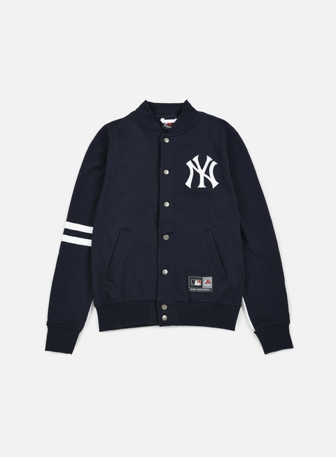 felpe majestic emodin fleece letterman ny yankees navy