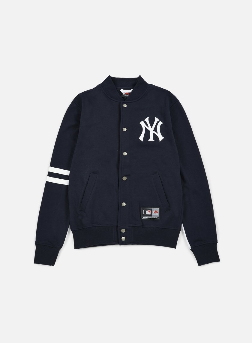 Majestic - Emodin Fleece Letterman NY Yankees, Navy