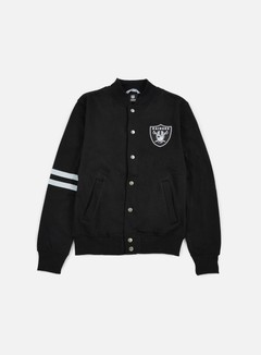 Majestic - Emodin Fleece Letterman Oakland Raiders, Black 1
